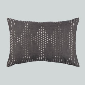 Diamond Spot Global Print Charcoal Cushion