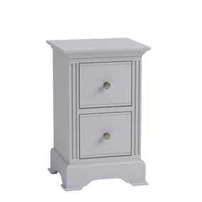 Pewter Grey Small Bedside Table