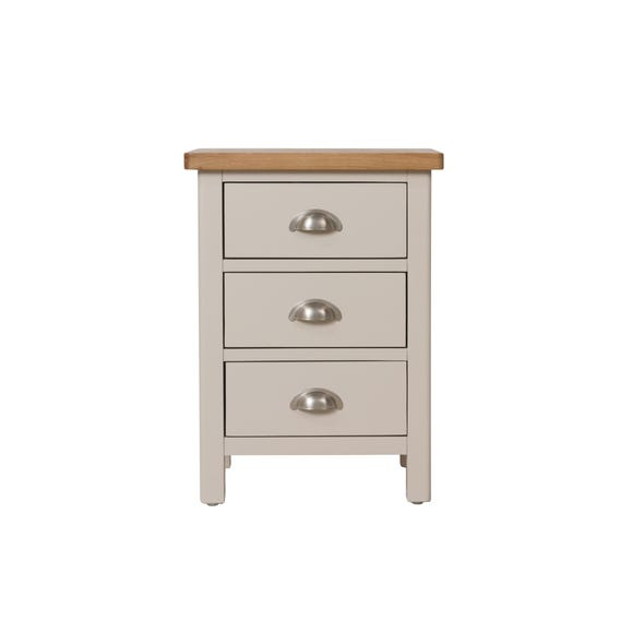 Reese 3 Drawer Bedside Table Dove (Grey)