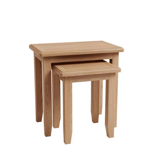 Lyla Nest of 2 Tables Light Oak