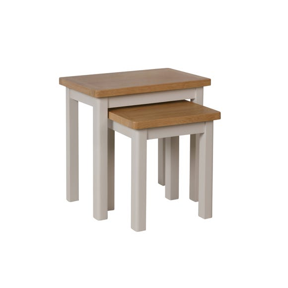 Reese Nest of 2 Tables Dove (Grey)