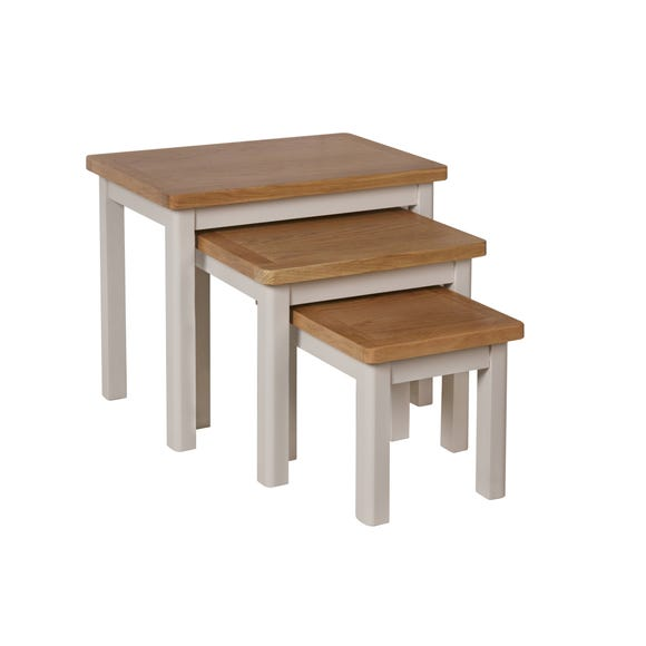 Reese Nest of 3 Tables Dove (Grey)