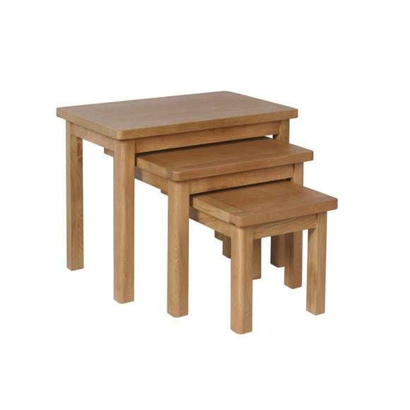 Ridley Nest of 3 Tables Oak (Brown)