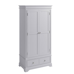 Pewter Grey 2 Door Wardrobe