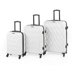 Constellation Matt White Chevron Hard 4 Wheel Suitcase
