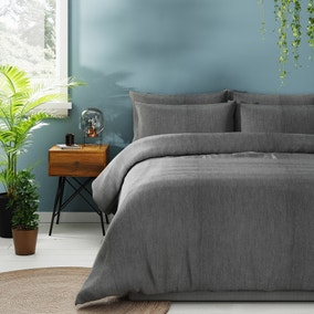 Chambray Grey Bedding Bundle Set