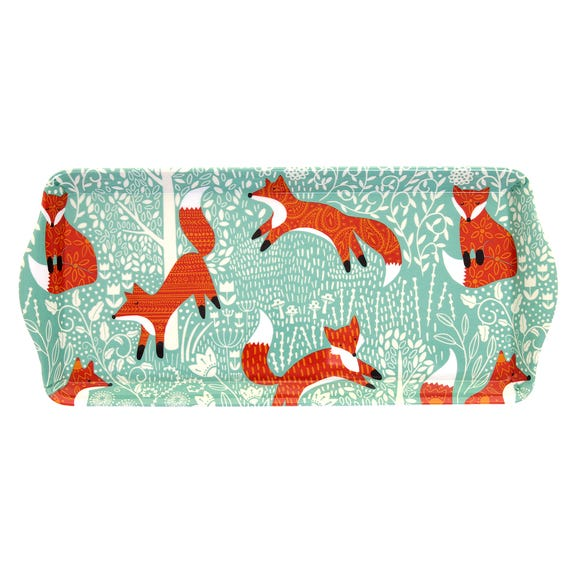Ulster Weavers Foraging Fox Small Tray Blue