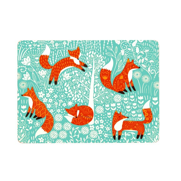 Ulster Weavers Foraging Fox Pack of 4 Placemats Blue