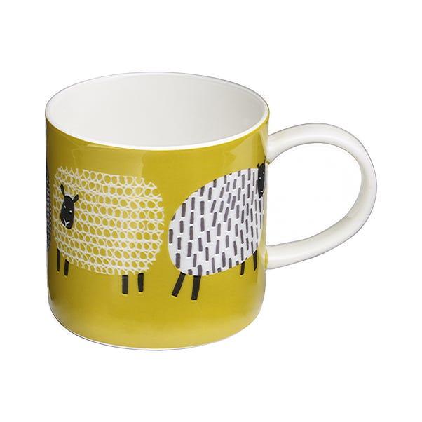 Ulster Weavers Dotty Sheep Mug Yellow