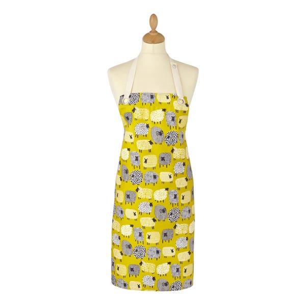 Ulster Weavers Dotty Sheep Oil Cloth Apron Yellow