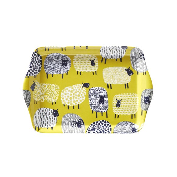Ulster Weavers Dotty Sheep Scatter Tray Yellow