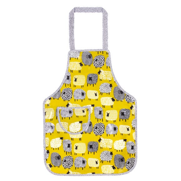 Ulster Weavers Dotty Sheep Kids PVC Apron Yellow