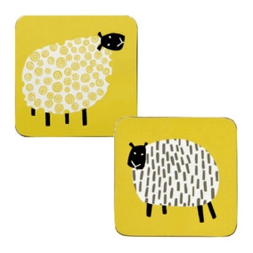 Ulster Weavers Dotty Sheep Pack of 4 Coasters