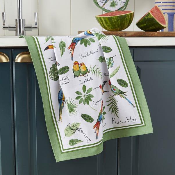 Ulster Weavers Tropical Birds Tea Towel Green
