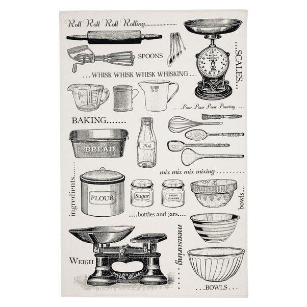Ulster Weavers Vintage Baking Tea Towel Grey