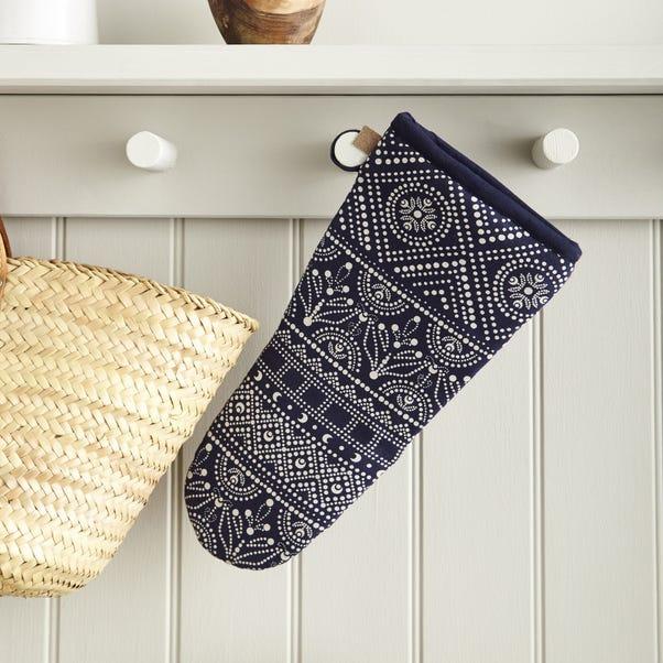 Ulster Weavers Indigo Batik Oven Glove Blue