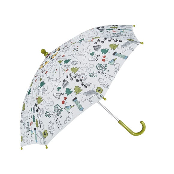 Ulster Weavers Let's Explore Nature Kids Umbrella Green