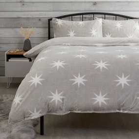 Teddy Star Grey Duvet Cover and Pillowcase Set