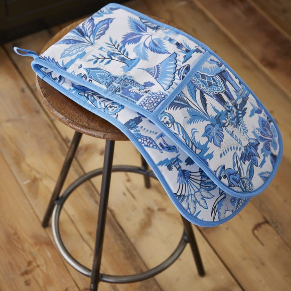 Ulster Weavers India Blue Double Oven Glove Blue