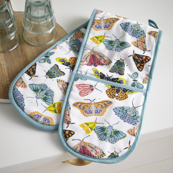 Ulster Weavers Butterfly House Double Oven Glove Multi Coloured