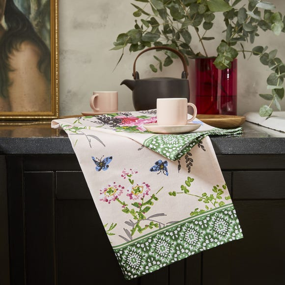 Ulster Weavers Madame Butterfly Tea Towel Green