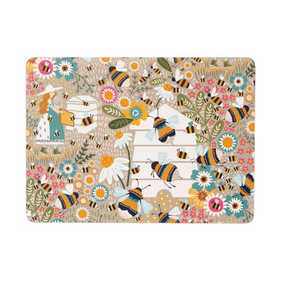 Ulster Weavers Bee Keeper Pack of 4 Placemats Natural