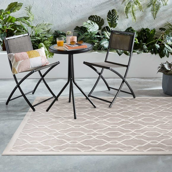 Indoor Outdoor Mendoza Natural Geometric Rug Natural undefined