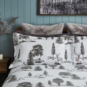 Dorma Brodie Grey Oxford Pillowcase Pair