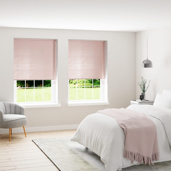 Faux Silk Blush Thermal Blackout Roller Blind  undefined