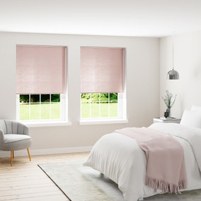 Faux Silk Blush Thermal Blackout Roller Blind