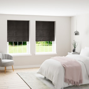 Faux Silk Charcoal Thermal Blackout Roller Blind