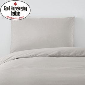 Non Iron Plain Dye Silver Walled Pillowcase