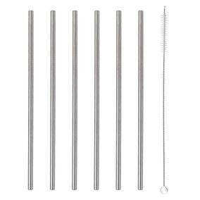 Viners Pack of 6 Steel Straws