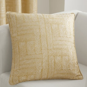 Curtina Lowe Woven Ochre Cushion