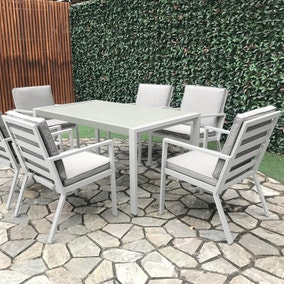 Titchwell 6 Seater White Dining Set