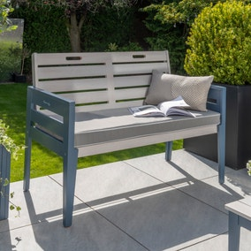 Galaxy 2 Seater Cushioned Bench