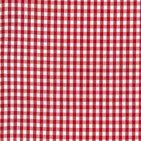 Gingham Cotton Poplin Fabric