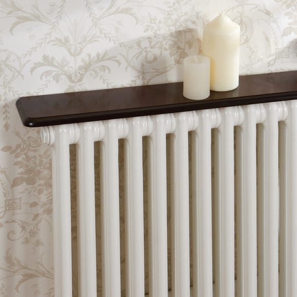 Mahogany Effect Radiator Shelf Brown undefined