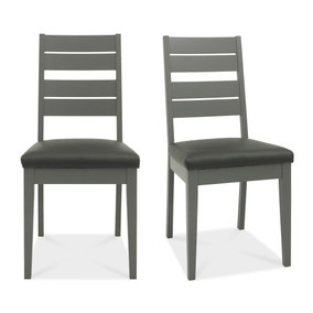 Oakham Set of 2 Dining Chairs Grey