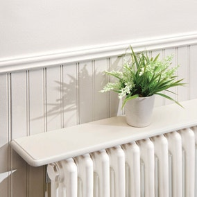 White Radiator Shelf