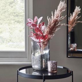 Silver Glass Vase