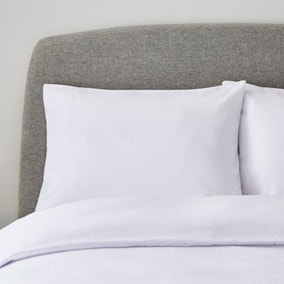 Simply Brushed Cotton White Housewife Pillowcase Pair