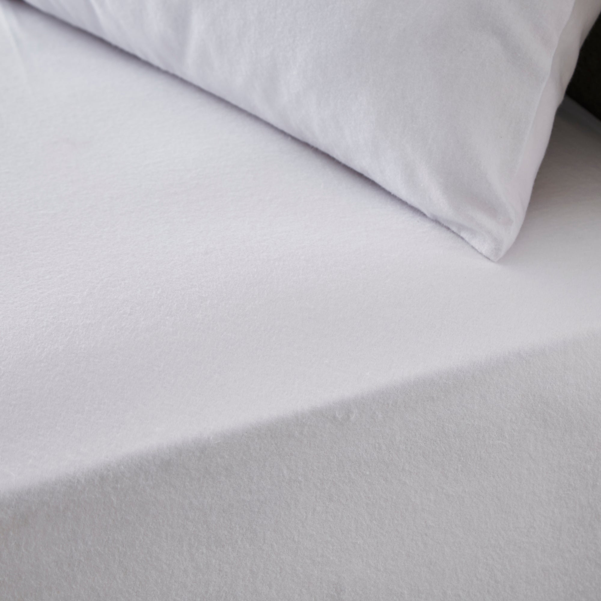 Dunelm Simply Brushed Cotton Fitted Sheet White Cot Bed