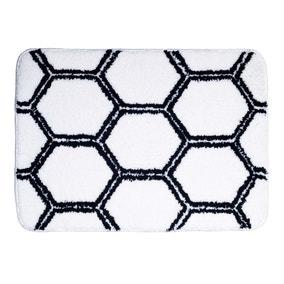 Honeycomb Microfibre Bath Mat
