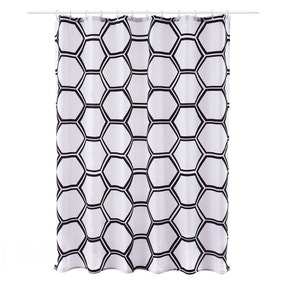 Honeycomb Shower Curtain