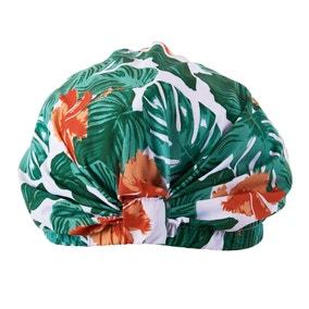 Tropical Leaf Shower Cap