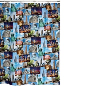 NYC Extra Long Shower Curtain