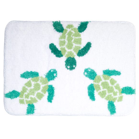 Turtles Microfibre Bath Mat MultiColoured