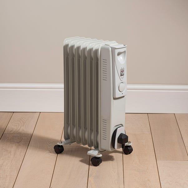 7 Fin 1500W Oil Heater Grey