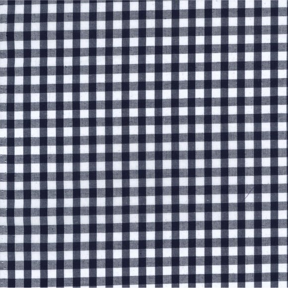 Gingham Fabric Navy